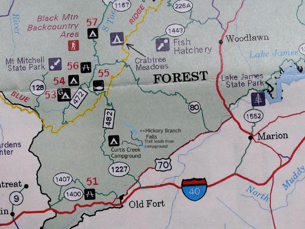 Old Fort Nc Map.Exploring Curtis Creek